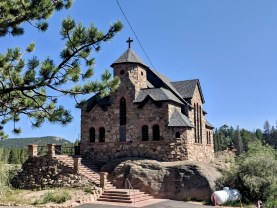 Small stone chapel near Rocky Mountain National Park.