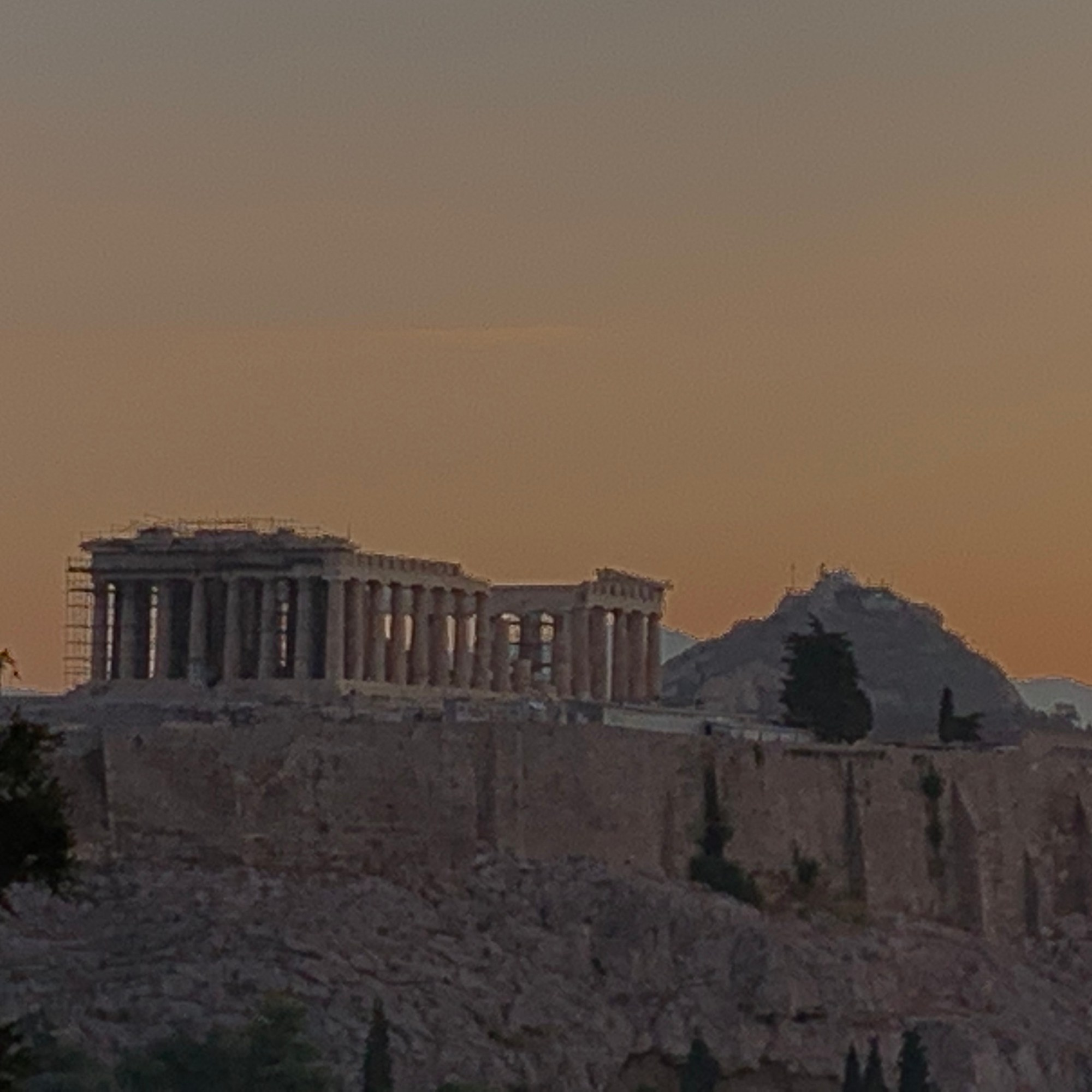 Philoppapos Hill Athens Sunrise