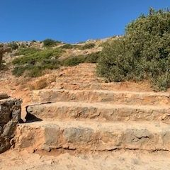 Steps to Preveli Beach