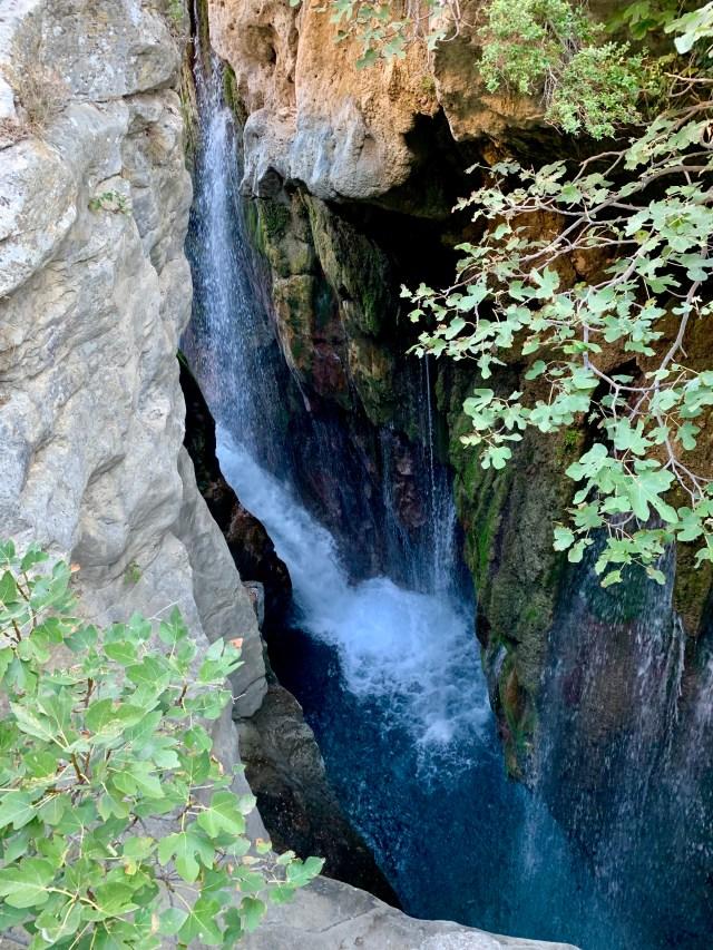 Waterfall in Crete Greece