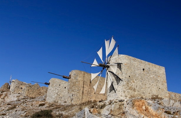 Lasithi Windmills Crete Greece