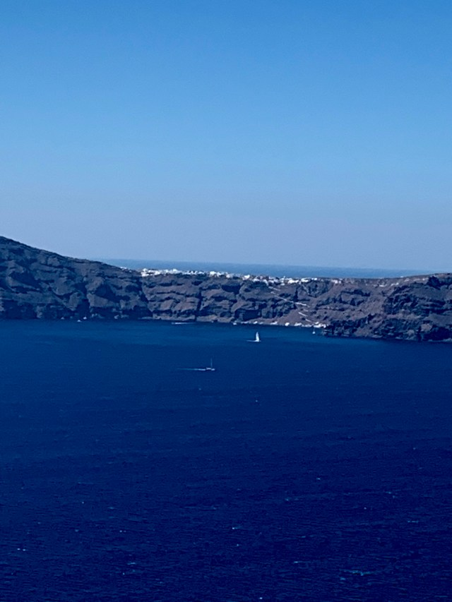 View from Restaurant at Santorini Greece