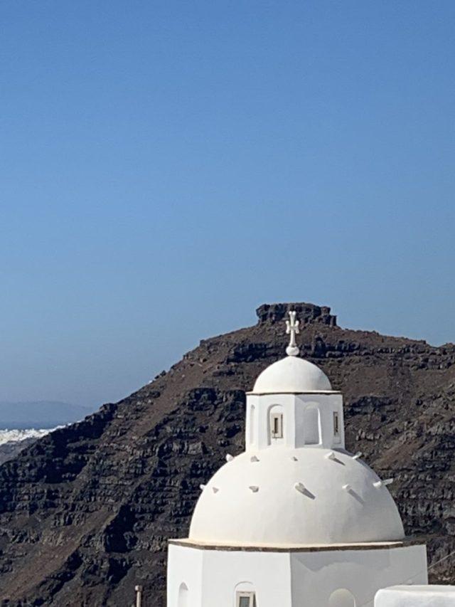 Imerovigli to Fira hike. Santorini Greece