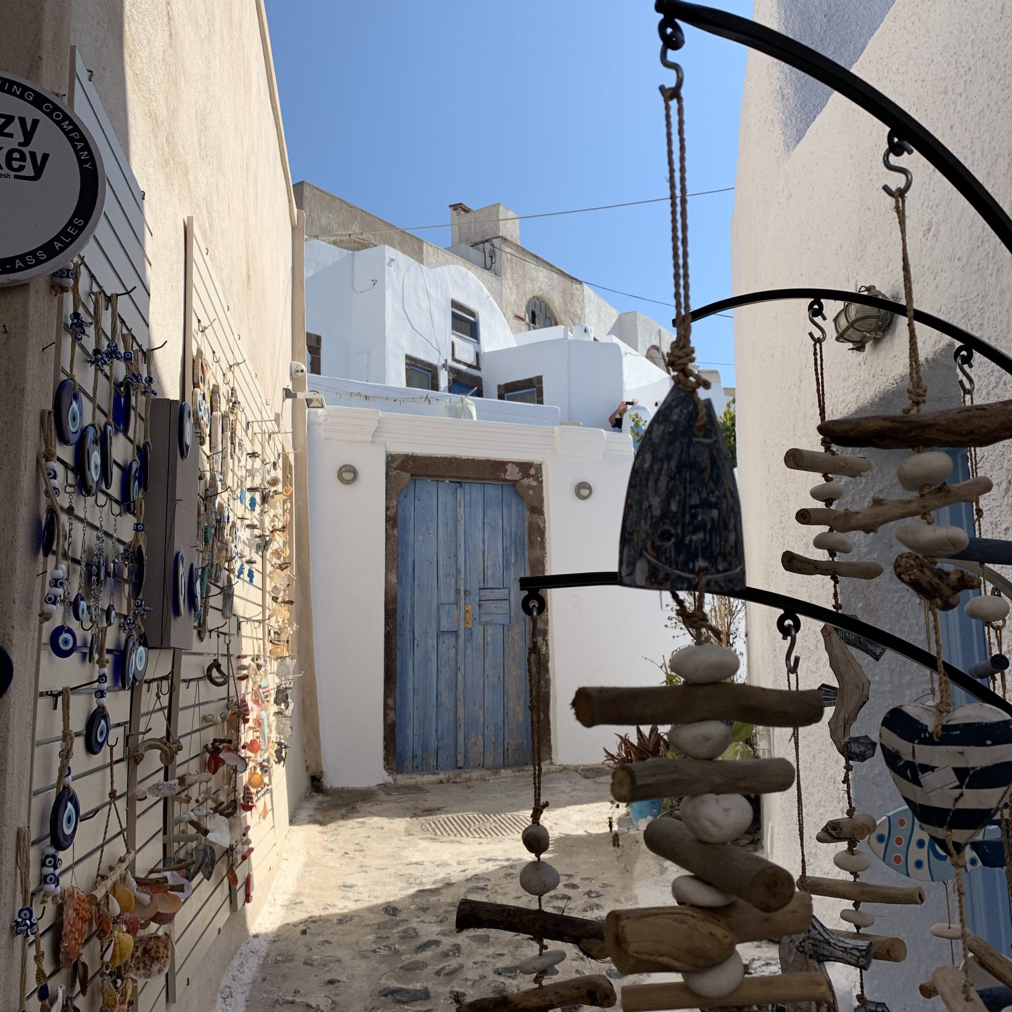 Exploring shops in Santorini
