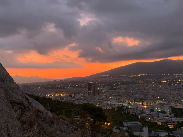 Lycabettus Hill Sunrise in Athens Greece