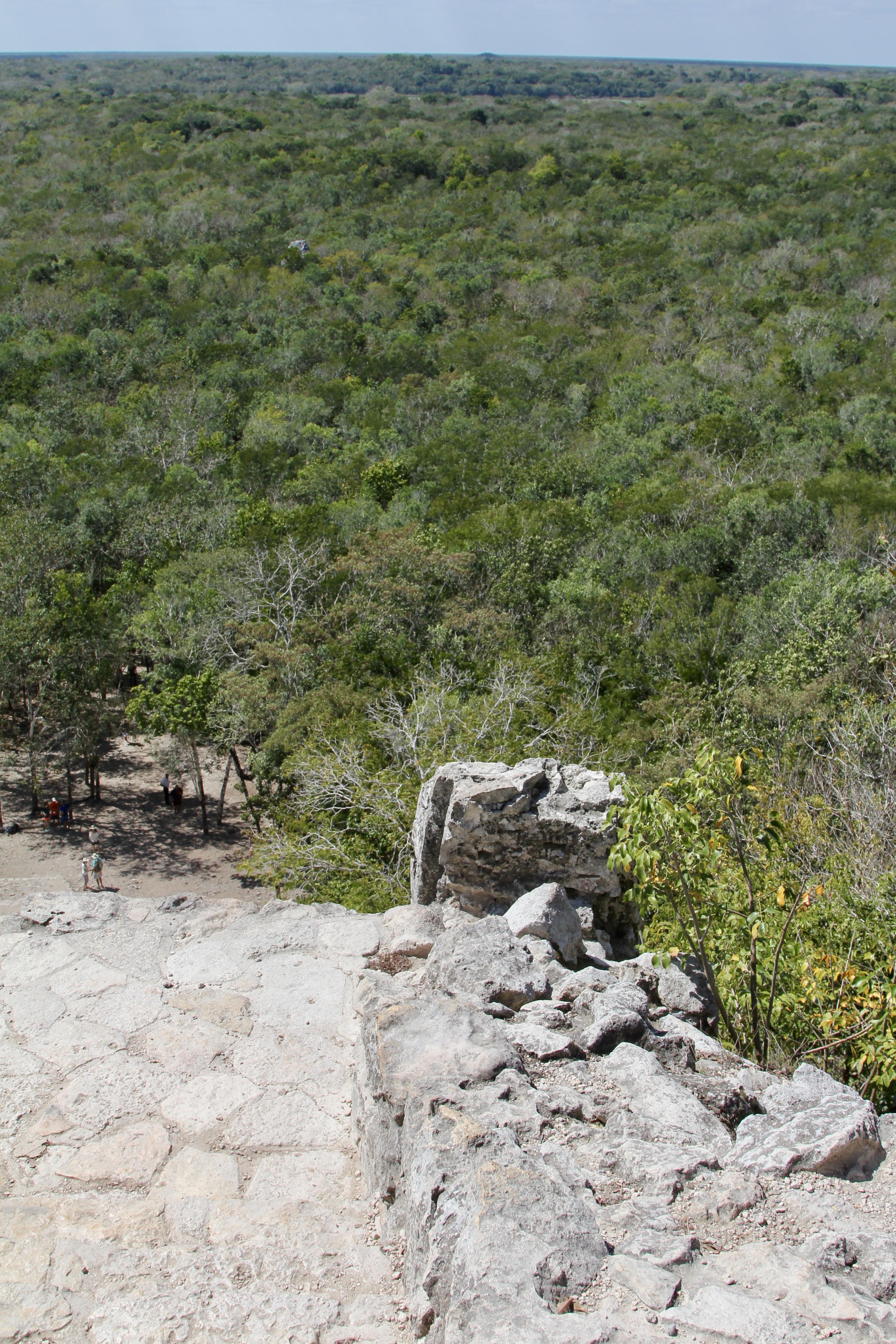Climbing Coba Ruins