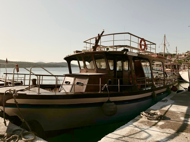 Spinalonga Boat Crete