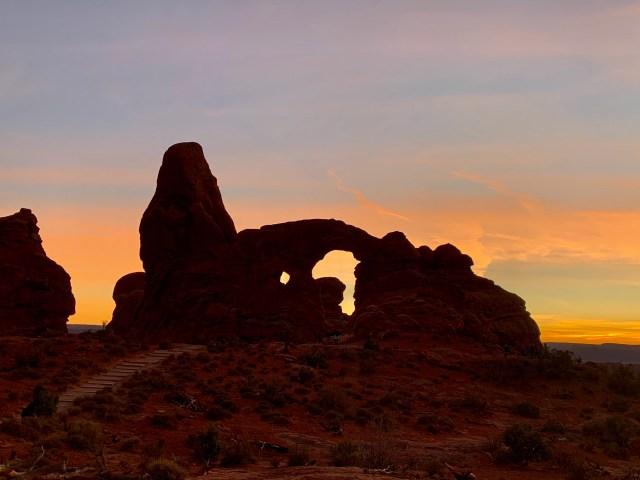 Sunset ar Arches PArk