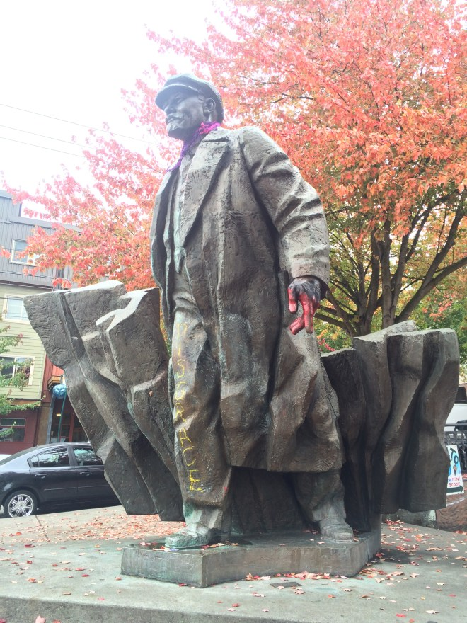 Controversial statue of Lenin in Fremont