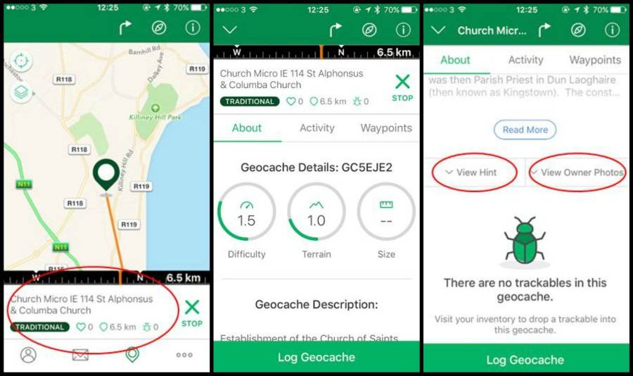 how to start geocaching with iphone