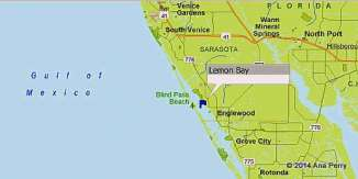 Map of Lemon Bay, FL