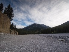 Cougar Creek is once again a dry channel
