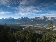 Looking across the Bow Valley from the trail