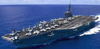USS carl vinson in South China Sea