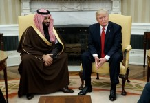 Mohammad Bin Salman MBS and President Donald Trump