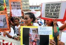 Protest against Kafala system