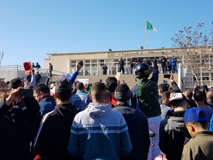 Protest against Bouteflika in Algeria