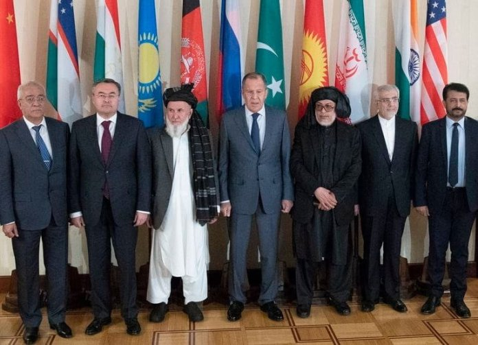 Russian Foreign Minister Sergey Lavrov in Peace talk with the Taliban