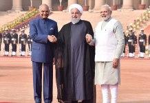 PM Rouhani, PM Narendra Modi and President Kovind