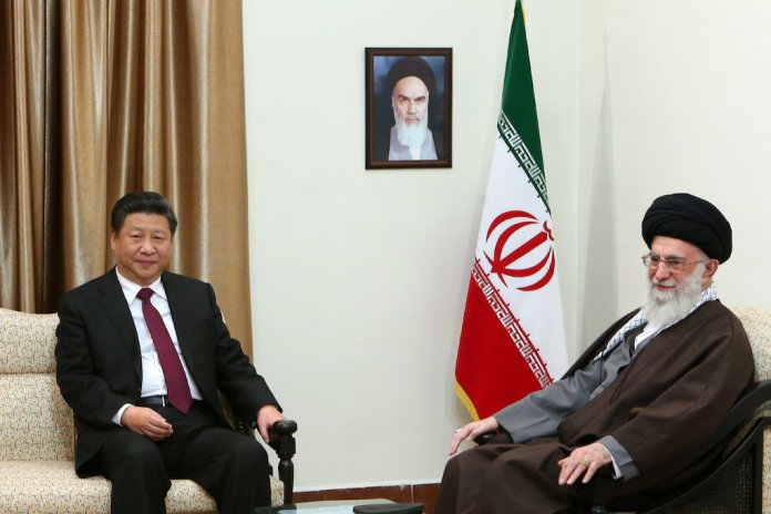 Ali Khamenei and Xi Jinping