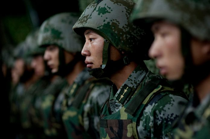 Soldiers of the Chinese People's Liberation Army