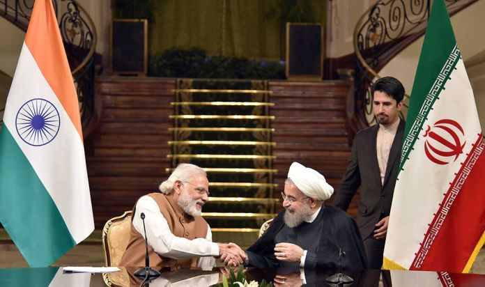 Prime Minister Narendra Modi with President of Iran Hassan Rouhani