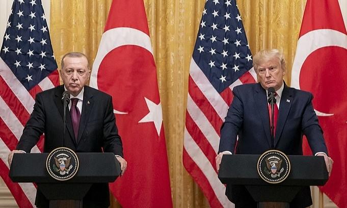 President Trump and President Erdogan of Turkey