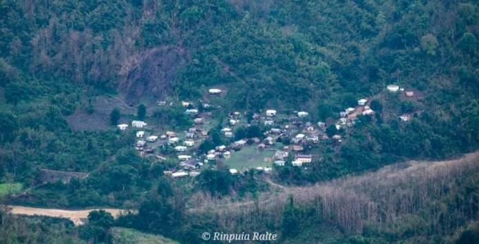 Dilzawl village near the river Tut in Mamit District, Mizoram