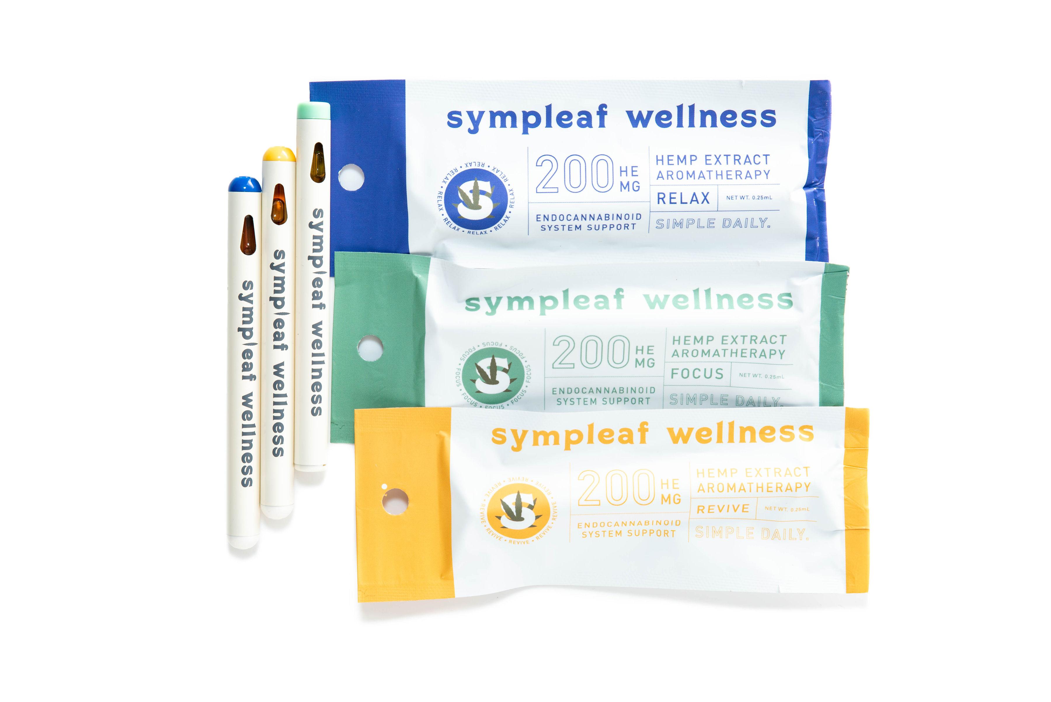 Sympleaf Wellness Hemp Extract Aromatherapy Terpene Kit (3 ct) – 200mg CBD  per unit