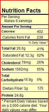 Hackfleischsuppe Nutritional Information
