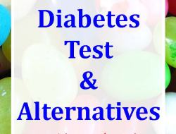 "Background of jelly beans with overlay text ""Gestational diabetes test & alternatives. Evidence-based with linked research"""