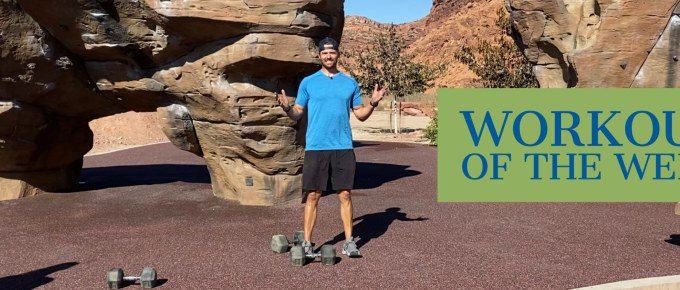 Workout of the Week - Upscale by Joe Bauer doing a workout at the climbing park in Moab