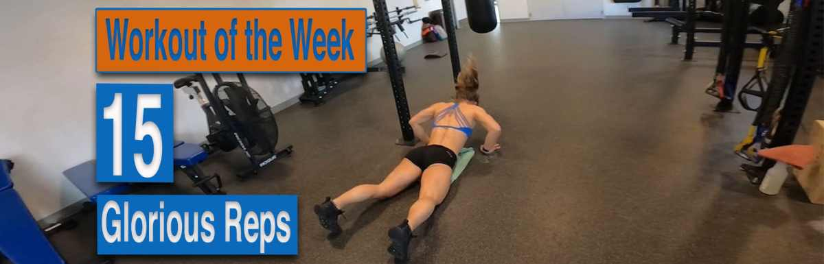 WOTW - 15 Glorious Reps with Emily Kramer doing burpees
