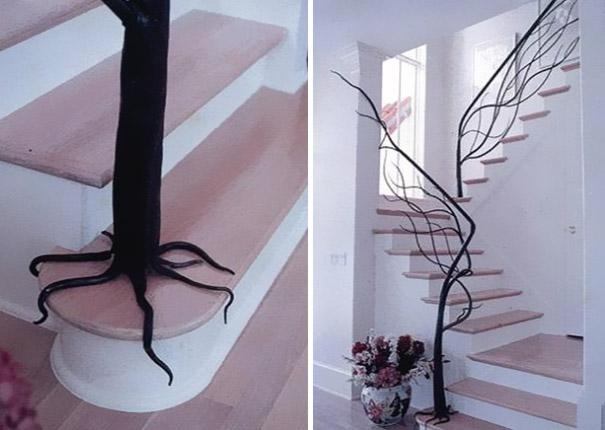ağaç merdiven