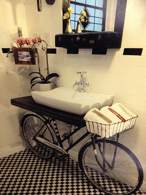 Eski bisiklet dekorasyon