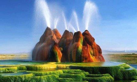 Fly Geyser, Nevada, Amerika