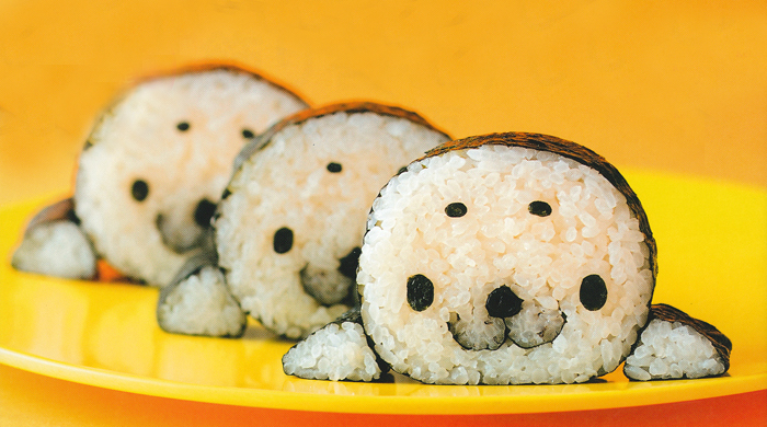 deniz aslanı şeklinde sushi