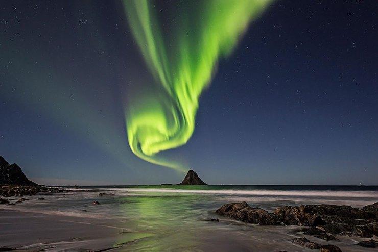 Bleik'te Kuzey Işıkları