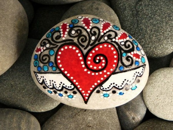 sevgililer günü kendin yap - taş kalp