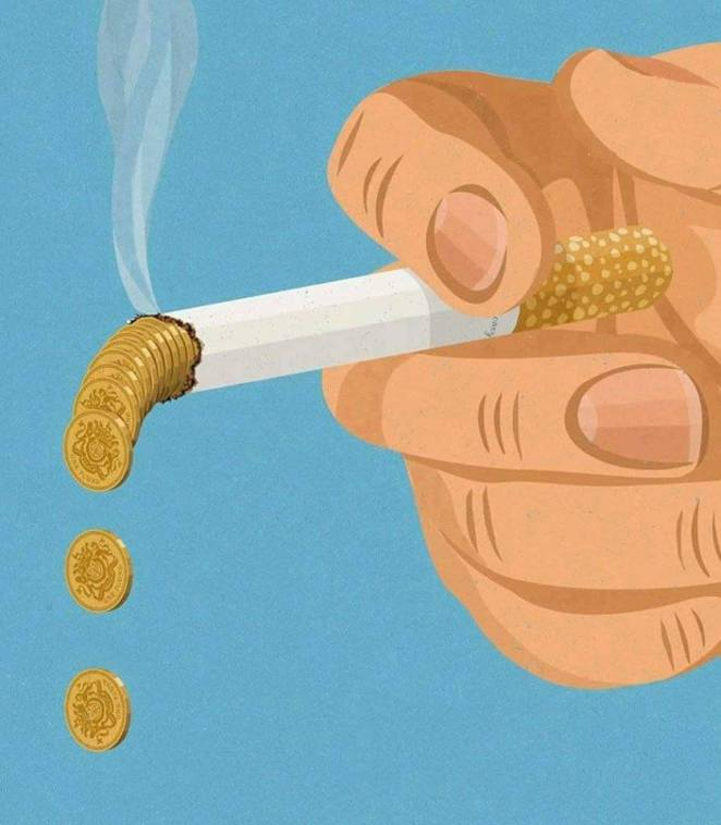 sigara illüstrasyonu