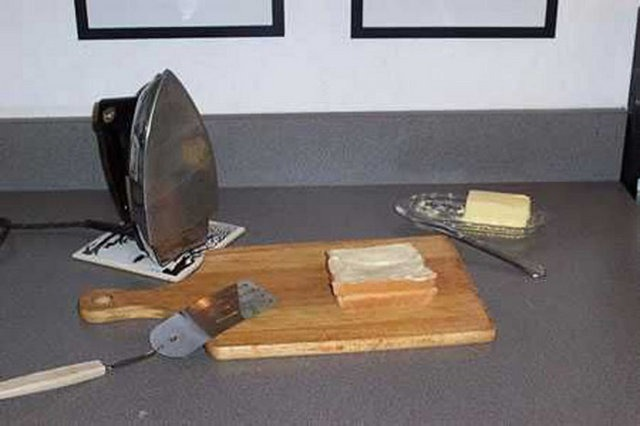ütü ile tost