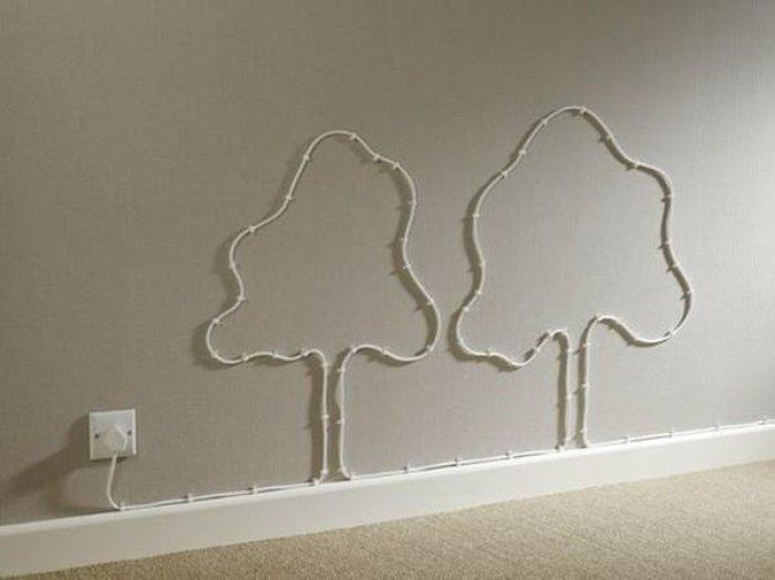 dekorasyon kablolardan ağaç