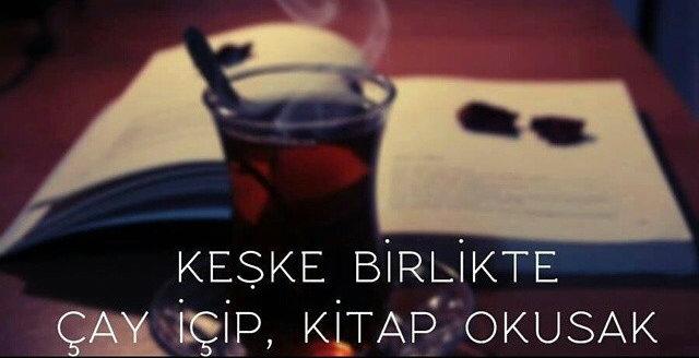 kitap çay