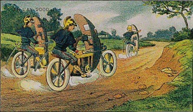 gelecekte motorsiklet