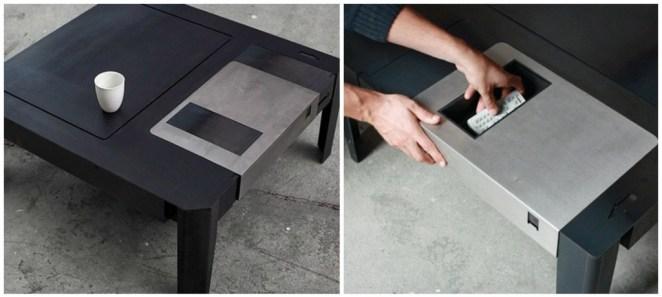 Disket şeklinde masa