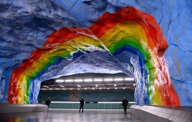 Stadion Metro İstasyonu, Stockholm, İsveç
