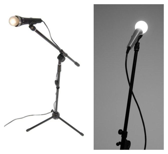 mikrofon şeklinde lamba