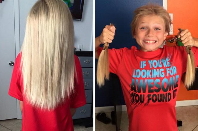 saç uzatıp hayır yapmak