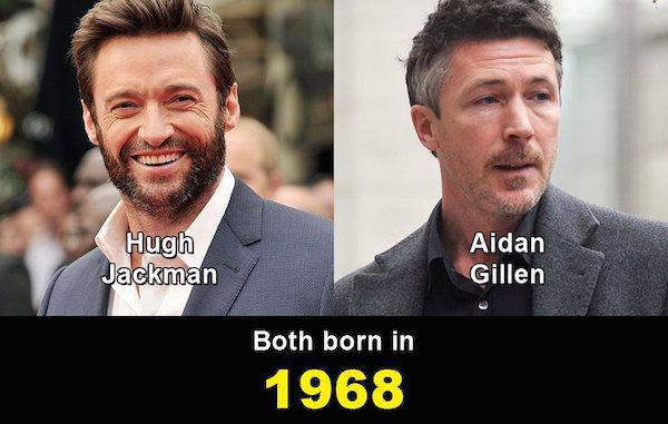 Aynı yaşta olduklarına inanamayacağınız ünlüler 10