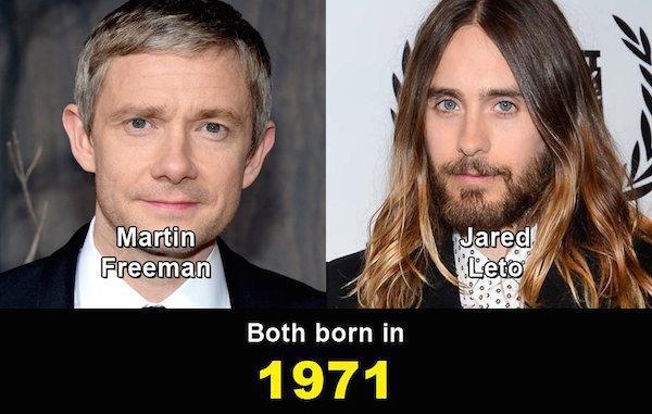 Aynı yaşta olduklarına inanamayacağınız ünlüler 3